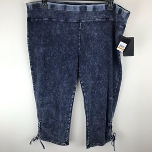 Marc NY Performance Blue Cropped Legging 3X P684